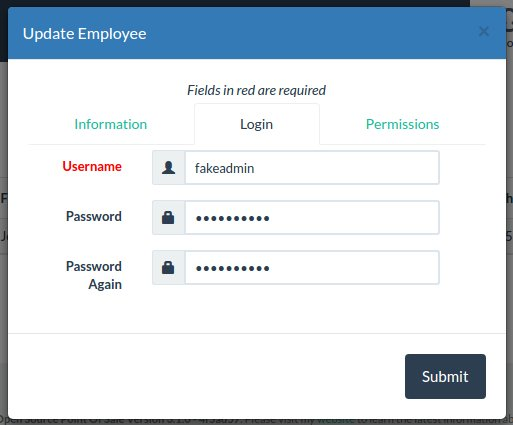 Employee Login Tab