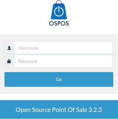 OSPOS Login Form